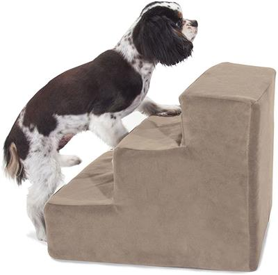 Stone Faux Suede Pet Stairs (3 Steps)