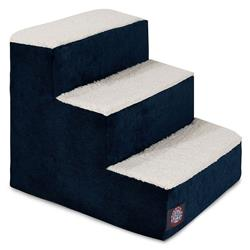 Navy Blue Villa Pet Stairs (3 Steps)