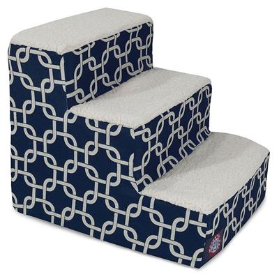 Navy Blue Links Pet Stairs (3 Steps)