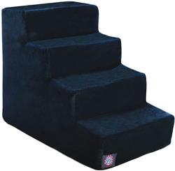 Navy Blue Faux Suede Pet Stairs (4 Steps)