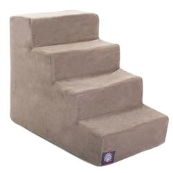 Stone Faux Suede Pet Stairs (4 Steps)