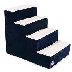 Navy Blue Villa Pet Stairs (4 Steps)