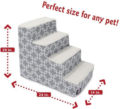 Navy Blue Links Pet Stairs (4 Steps)