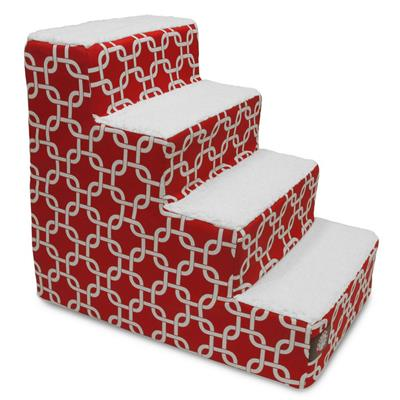 Red Links Pet Stairs (4 Steps)
