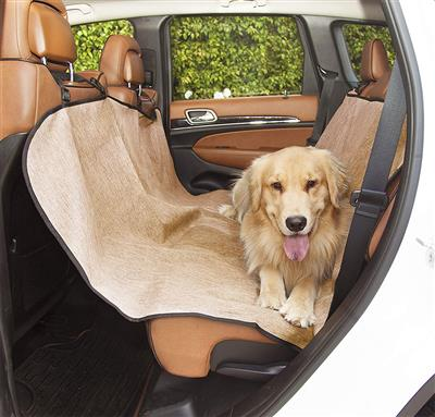 Tan Hammock Back Seat Car Cover