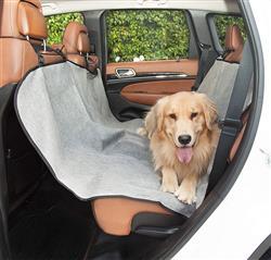 Grey Hammock Back Seat Car Cover