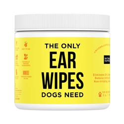 Dog Ear Wipes, 100 count Jar