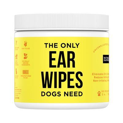 Dog Ear Wipes, 100 count Jar