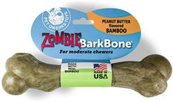 Pet Qwerks Zombie Bamboo BarkBone - Peanut Butter Flavor - For Moderate Chewers