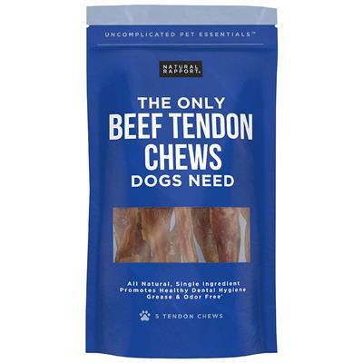 Beef Tendon Chews, 5 count Bag