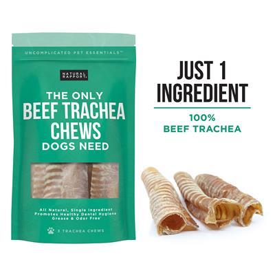 Beef Trachea Chews, 3 count Bag