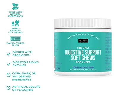 Digestive Support Soft Chews, 120 count Jar