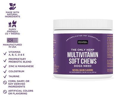 Hemp Infused Multivitamin Soft Chews, 120 count Jar