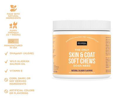 Skin & Coat Soft Chews, 120 count Jar