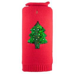 Reversible Sequin Tree Roll Neck Sweater