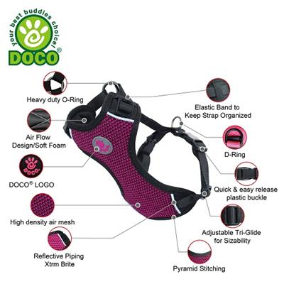 DOCO® Super Comfortable 3D Foam Harness PATENTED