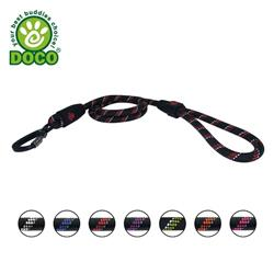 DOCO® 4ft Reflective Rope Leash W/ soft Rubber Handle Ver. 5 - Click & Lock Snap  - COPY