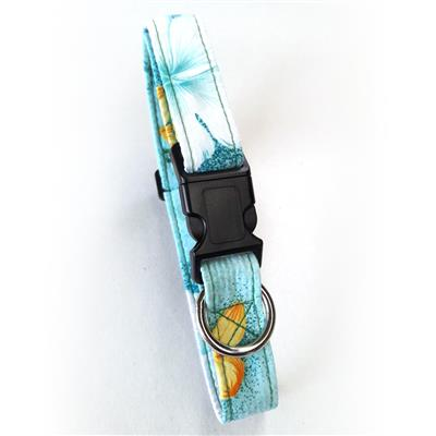 Key West Green Beach Dog Collars and Leashes