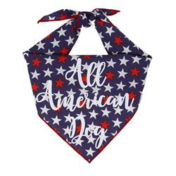 4th of July Dog Bandana | Patriotic Dog Bandana |  All American Dog Bandana | BUY 10 GET 1 FREE