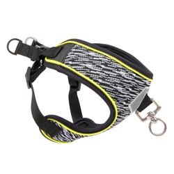 Pup Crew Pro Black Flex Knit and Mesh Step-In Harness
