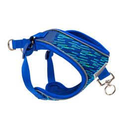 Pup Crew Pro Blue Flex Knit and Mesh Step-In Harness
