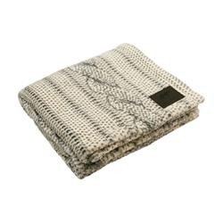Tall Tails Cable Knit Print Dog Blanket