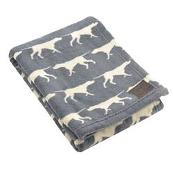 Tall Tails Charcoal Icon Dog Blanket