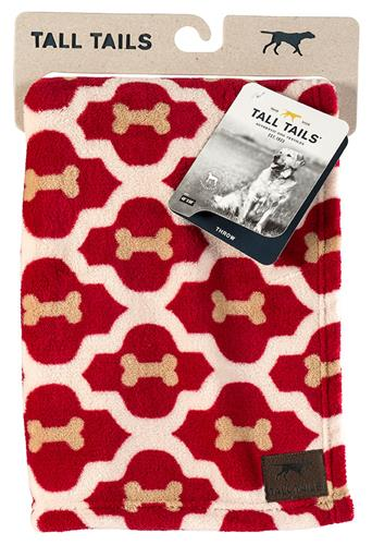 Tall Tails Red Bone Dog Blanket