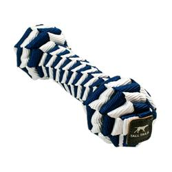 Tall Tails Navy Braided Bone Toy, 9""