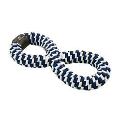 Tall Tails Navy Braided Infinity Toy, 11""