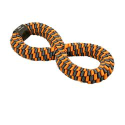 Tall Tails Orange Braided Infinity Toy, 11""