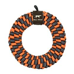 Tall Tails Orange Braided Ring Toy