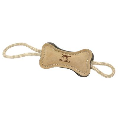 """Tall Tails Natural Wool Bone Tug Toy, 16"""""""