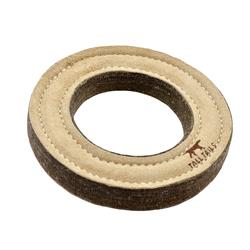Tall Tails Natural Leather Ring Toy, 7""