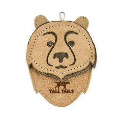 Tall Tails Natural Leather Bear Toy, 4""