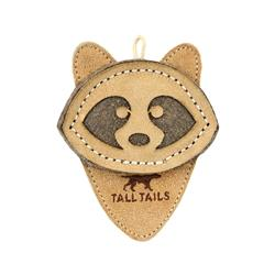 Tall Tails Natural Leather Raccoon Toy, 4""
