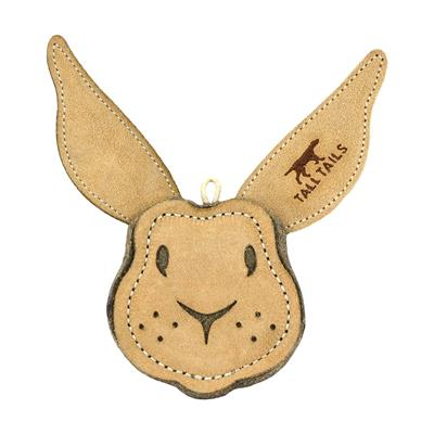 Tall Tails Natural Leather Rabbit Toy, 4""