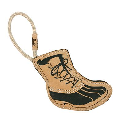 """Tall Tails Natural Leather Hiking Boot Tug Toy, 16"""""""