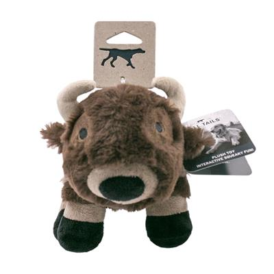Tall Tails Buffalo With Squeaker Toy, 9""