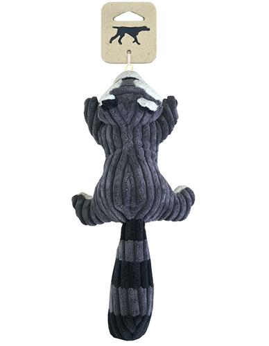 """Tall Tails Raccoon With Squeaker, 12"""""""