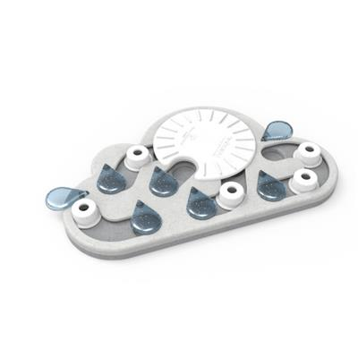 Rainy Day (White) Puzzle & Play Cat Toy by PetStages & Nina Ottosson