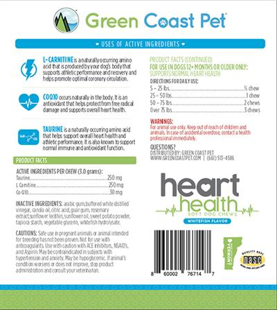 GRAIN FREE Heart Health Soft Chews- Whitefish Flavor