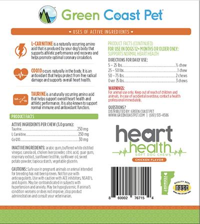 GRAIN FREE Heart Health Soft Chews- Chicken Flavor