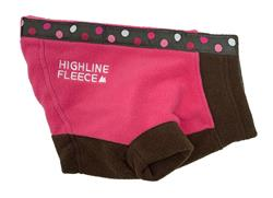 Highline Fleece Coat PINK and BROWN with Polka Dots