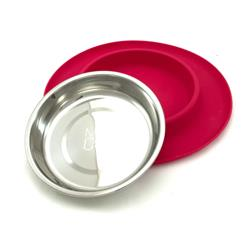 Red Cat Single Bowl Silicone Feeders by Messy Mutts