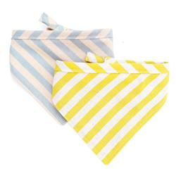 Rifle Paper Co Striped Canvas Dog Bandana (Cielo & Sol)