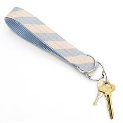 Cielo Striped Rifle Paper Co Key Chain Wristlet Fob