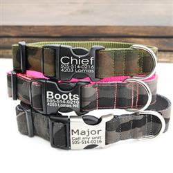 Camo Canvas Dog Collars & Leashes