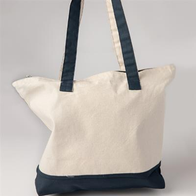 Shopping Bag, Natural/Navy