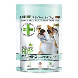 CALMPLUS with Prebiotics, Calming, Digestive & Brain Health Support Supplement  (40 chews/bag)
